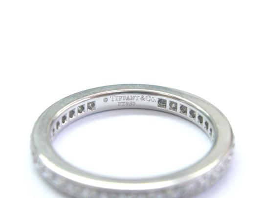 Tiffany & Co. Tiffany & Co Platinum Legacy Diamond Milgrain Band Ring Size 5 Image 2