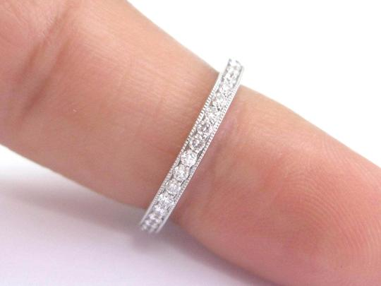 Tiffany & Co. Tiffany & Co Platinum Legacy Diamond Milgrain Band Ring Size 5 Image 3