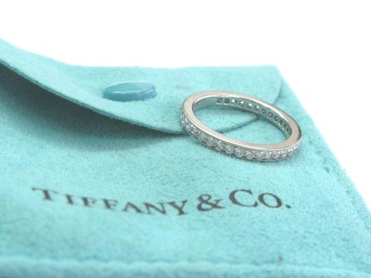 Tiffany & Co. Tiffany & Co Platinum Legacy Diamond Milgrain Band Ring Size 5 Image 4