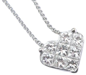 custom Fine Princess Cut Diamond Heart Shape Pendant Necklace 1.35Ct 14Kt 17