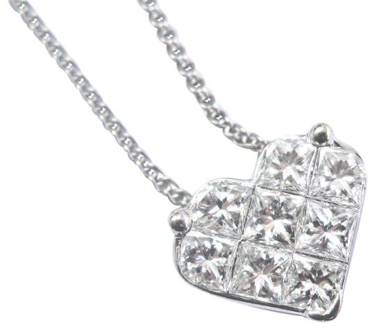 Preload https://img-static.tradesy.com/item/23199709/f-fine-princess-cut-diamond-heart-shape-pendant-135ct-14kt-17-necklace-0-3-540-540.jpg