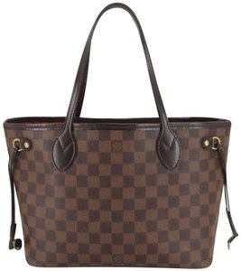 Louis Vuitton Damier Neverfull Damier Canvas Damier Ebene Neverfull Mm Tote in Brown