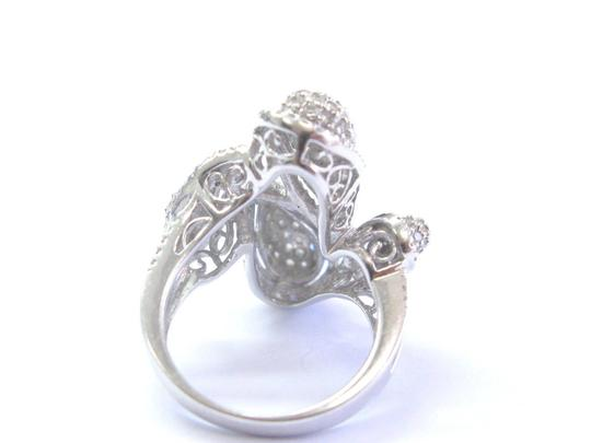 custom Fine Round Cut Diamond Cluster White Gold Tear Drop Ring 14Kt 1.50Ct Image 1