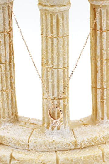 Ocean Fashion 925 rose gold Simple crystal ring necklace Image 2
