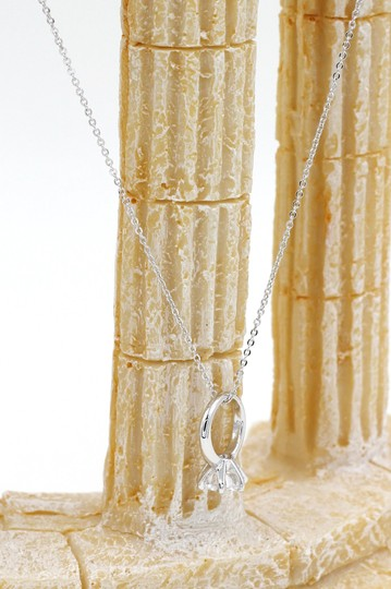 Ocean Fashion Sterling silver Simple crystal ring necklace Image 3