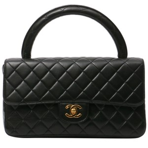 Chanel Vintage Tote Caviar Satchel in Black