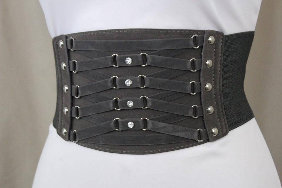 d525c5ce685 Alwaystyle4you Dark Grey High Waist Wide Waistband Elastic Corset Chic  Women Belt Image 11. 123456789101112