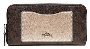 Coach COACH ACCORDION ZIP WALLET WITH METALLIC COLORBLOCK f22712