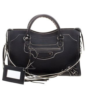 Balenciaga Leather Classic Highlight Tote in Black