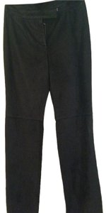 Ann Taylor Spring Leather Summer Leather Leather Spring Beach Summer Beach Capri/Cropped Pants black