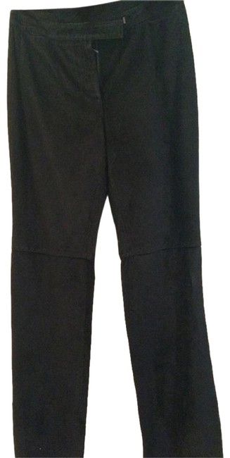 Preload https://img-static.tradesy.com/item/23200079/ann-taylor-black-leather-preowned-never-worn-pants-size-4-s-27-0-1-650-650.jpg