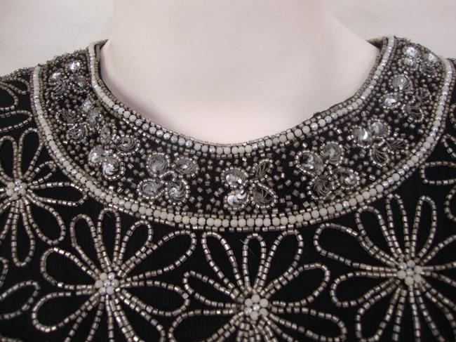 Adrianna Papell Boutique Vintage Beaded Evening Top Black Image 2