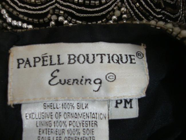 Adrianna Papell Boutique Vintage Beaded Evening Top Black Image 4