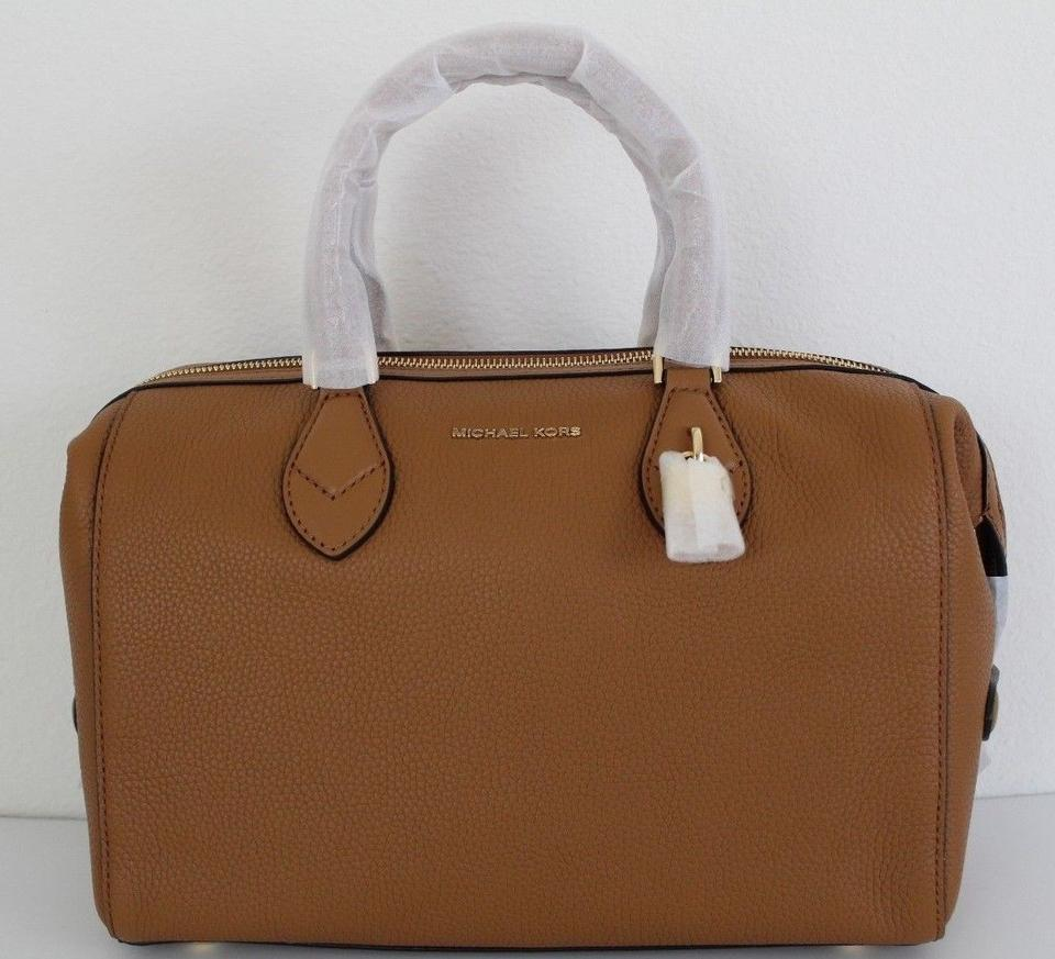 bcabe3e0b220 Michael Kors Satchel in Acorn Brown Image 11. 123456789101112