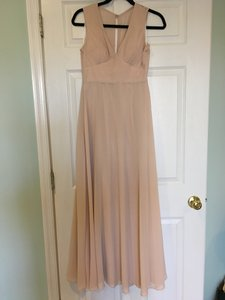 BHLDN Nude Polyester Capulet Formal Bridesmaid/Mob Dress Size 2 (XS)