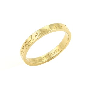 Tiffany & Co. Notes 18k Yellow Gold 3mm Wide Wedding Band Ring