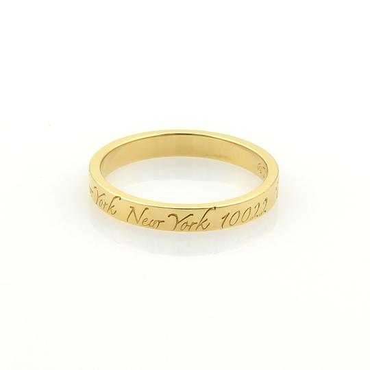Tiffany & Co. Notes 18k Yellow Gold 3mm Wide Wedding Band Ring Image 1