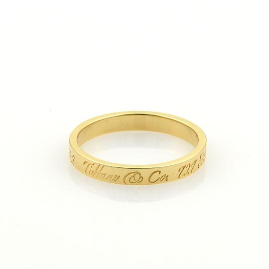 Tiffany & Co. Notes 18k Yellow Gold 3mm Wide Wedding Band Ring Image 2