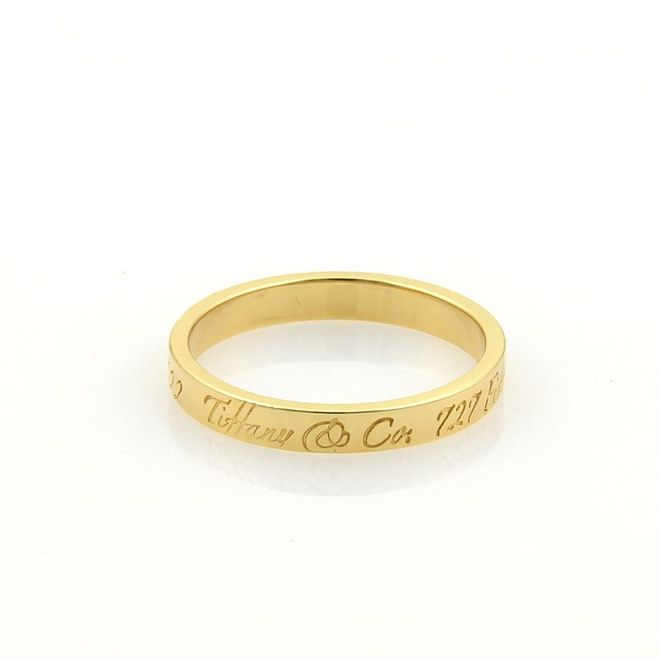 e346a7480dbec Tiffany & Co. 17468_ Notes 18k Yellow Gold 3mm Wide Wedding Band Ring