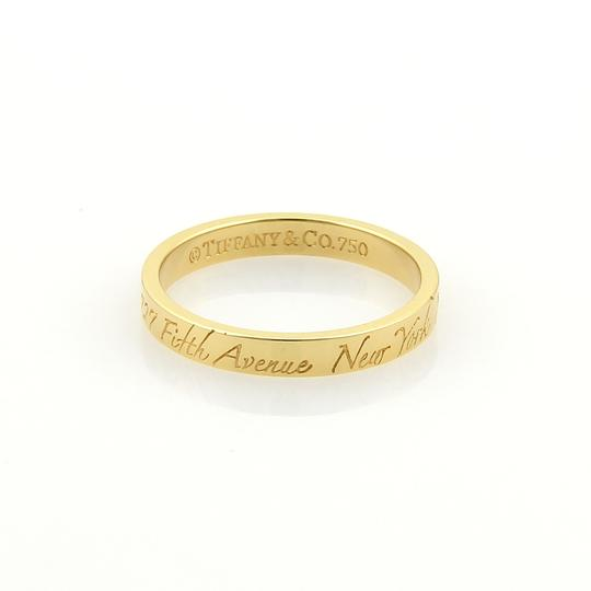 Tiffany & Co. Notes 18k Yellow Gold 3mm Wide Wedding Band Ring Image 3
