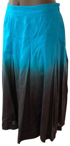 INC International Concepts Skirt turquoise and brown