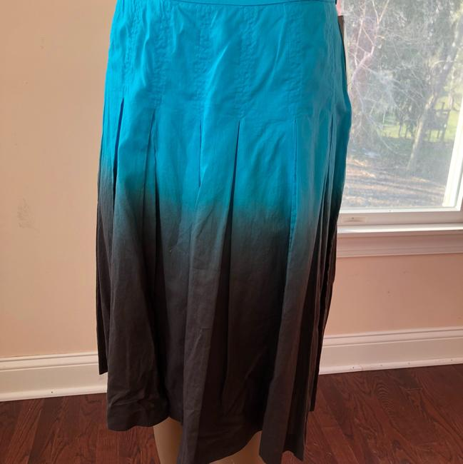 INC International Concepts Skirt turquoise and brown Image 3