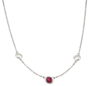 Tiffany & Co. Peretti Color By The Yard Ruby Diamond Platinum Necklace