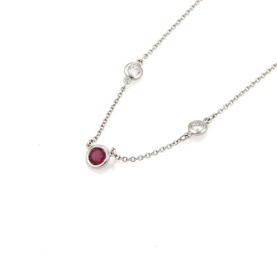 Tiffany & Co. Peretti Color By The Yard Ruby Diamond Platinum Necklace Image 1