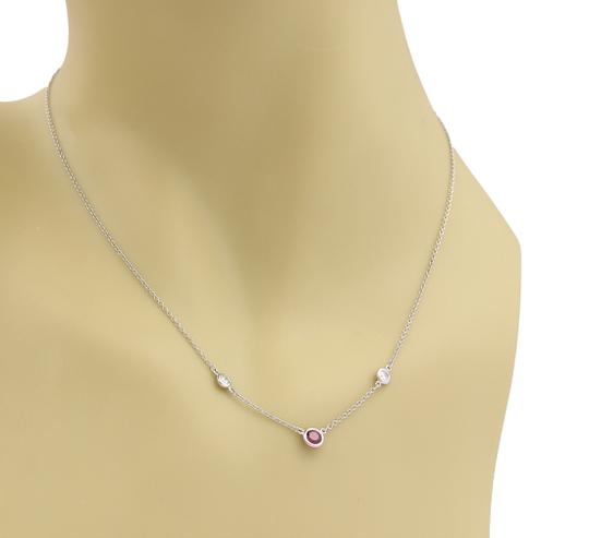 Tiffany & Co. Peretti Color By The Yard Ruby Diamond Platinum Necklace Image 2