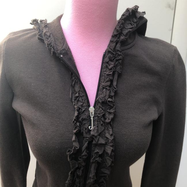 Juicy Couture Chocolate Brown Ruffle Activewear Outerwear Size 0 (XS) Juicy Couture Chocolate Brown Ruffle Activewear Outerwear Size 0 (XS) Image 6
