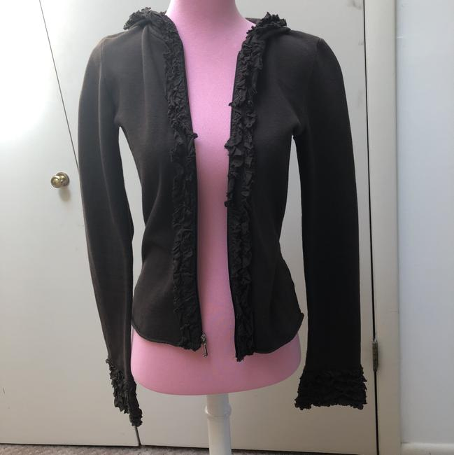 Juicy Couture Chocolate Brown Ruffle Activewear Outerwear Size 0 (XS) Juicy Couture Chocolate Brown Ruffle Activewear Outerwear Size 0 (XS) Image 7