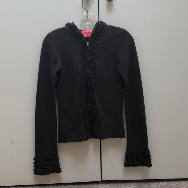 Juicy Couture Chocolate Brown Ruffle Activewear Outerwear Size 0 (XS) Juicy Couture Chocolate Brown Ruffle Activewear Outerwear Size 0 (XS) Image 8