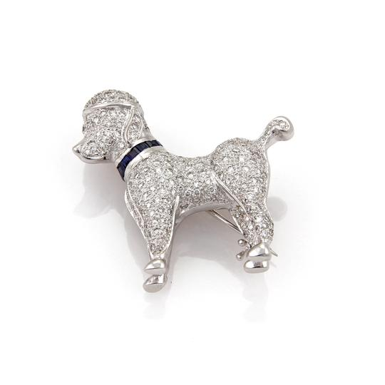 Preload https://img-static.tradesy.com/item/23200501/19357-diamond-and-sapphire-poodle-dog-brooch-pin-in-18k-white-gold-0-1-540-540.jpg