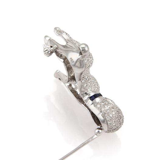 other Stunning 1.62ct Diamond Poodle Dog 18k White Gold Brooch Pin Image 2