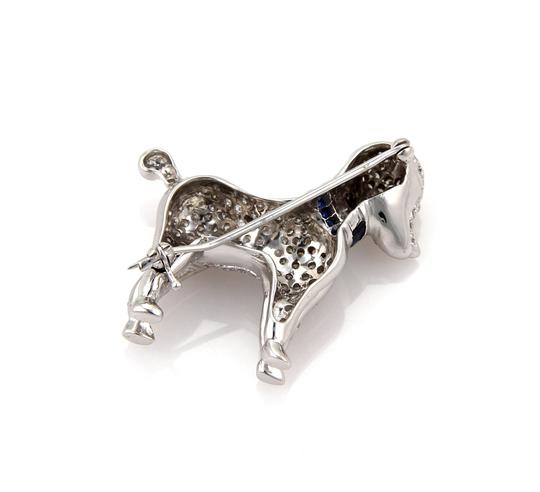 other Stunning 1.62ct Diamond Poodle Dog 18k White Gold Brooch Pin Image 3