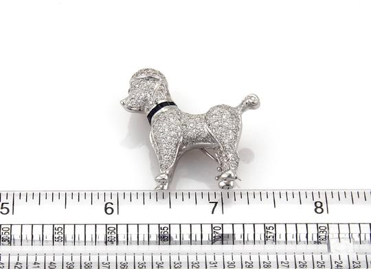 other Stunning 1.62ct Diamond Poodle Dog 18k White Gold Brooch Pin Image 4