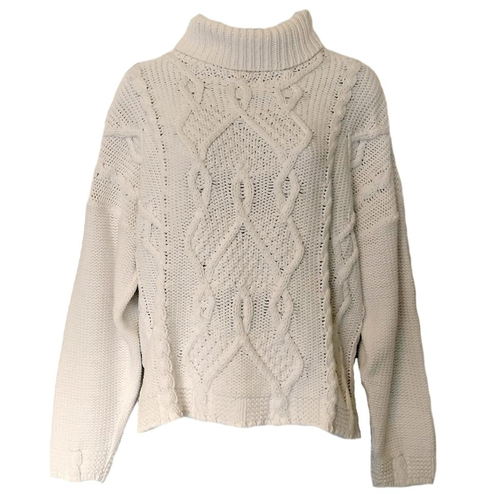 White Cable Knit 90s Oversized Sweaterpullover Size Os One Size