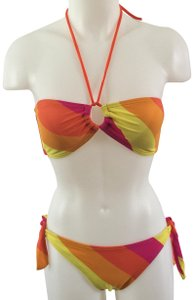 Hula Honey Multicolor Striped Bikini by Hula Honey Size M