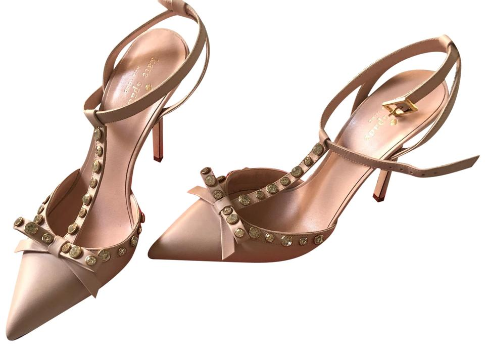 07cb77546a76 Kate Spade Petal Pink Nude Lydia High Heels Formal Shoes Size US 8 ...
