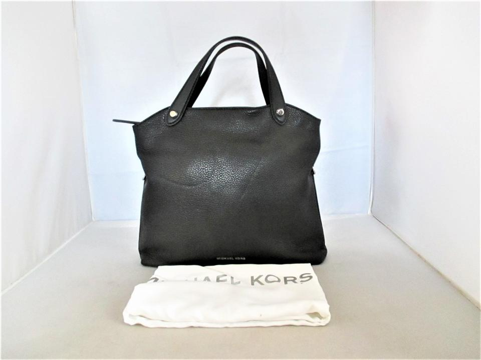 fe0f08649987 Michael Kors Messenger Hyland Convertible Satchel Cross-body Purse Black  Pebbled Leather Shoulder Bag - Tradesy