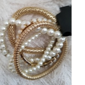 Primark Faux gold and pearl bracelets