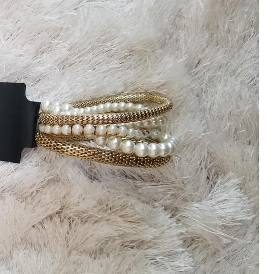 Primark Faux gold and pearl bracelets Image 2