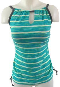 Free Country Striped High Neck Tankini Top by Free Country NWT