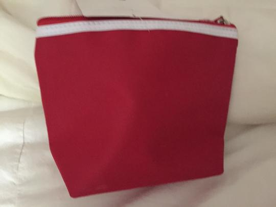Clarins Clarins Red Cosmetic Bag with White Patent Trim Image 6