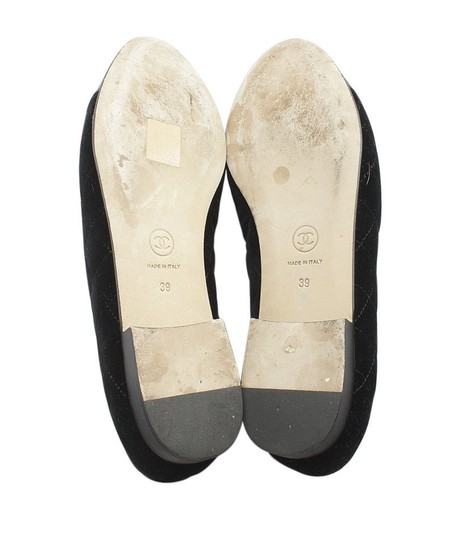 Chanel Velvet Loafers Quilted black Flats Image 5