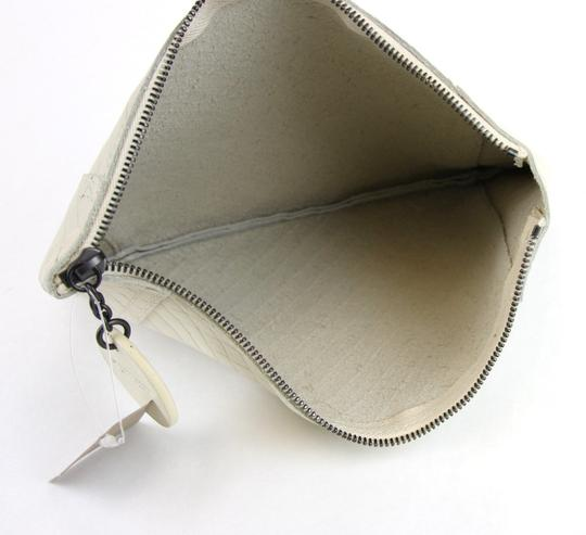Bottega Veneta Intrecciomirage Leather White Clutch Image 6