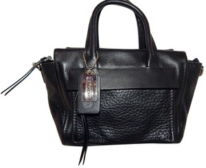 Coach Leather 27923 Satchel in Black