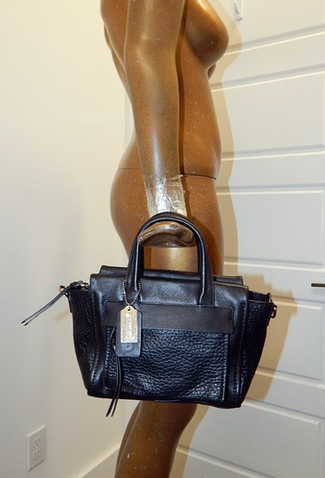 Coach Leather 27923 Satchel in Black Image 1