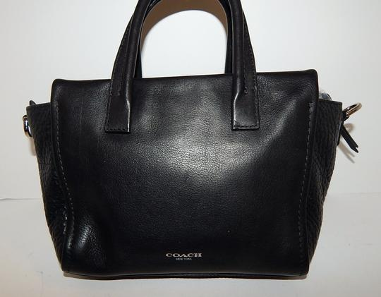 Coach Leather 27923 Satchel in Black Image 4