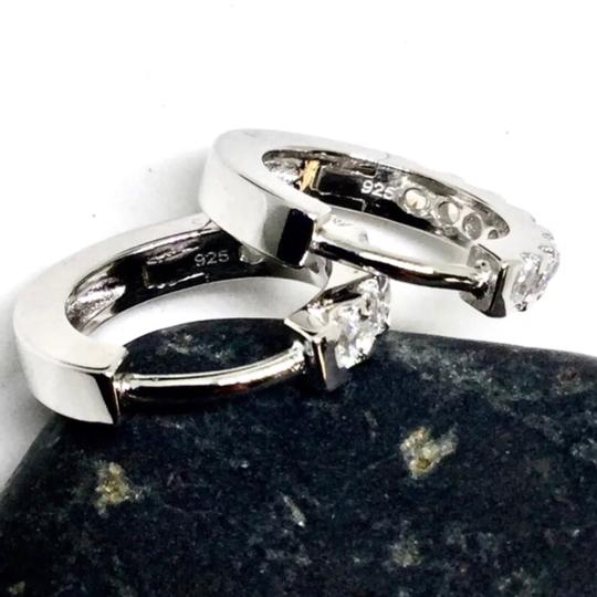 Other Sterling Silver, Cubic Zirconia Hoops Image 2